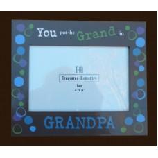 "Picture Frame /""You put the Grand in Grandpa"""