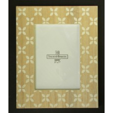 Wood with White-Leaf Design Picture Frames #2