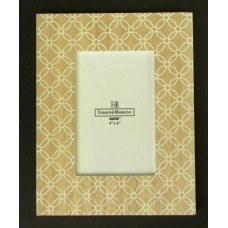 Wood with White-Diamond Flora Design Picture Frames