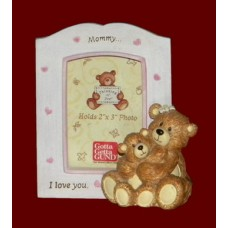 """Mommy or Daddy ...I Love You"" Picture Frames /Bears"
