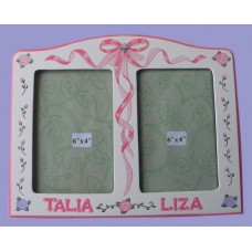 Handpainted Picture Frames; 4 x 6 Double Arch-Top:Samples