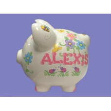 Large Piggy Banks /FLOWERS, BEES, B'FLIES, L'BUGS