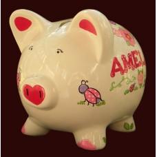 Large Piggy Banks /LADYBUGS & FLOWERES