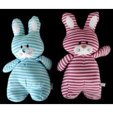 Plush /Bright Stripes Bunnies /Pink or Blue