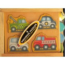 Wooden Mini-Puzzle-Pack /Vehicles