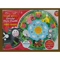 Fresh Start Farm Friends Fun Circular Floor Puzzle