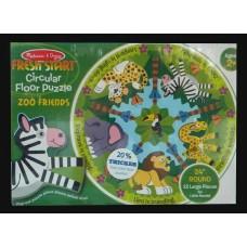 Fresh Start Zoo Friends Fun Circular Floor Puzzle