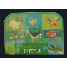 Floor Puzzles / Farm Animals Floor Puzzle and All Purpose Carry Case