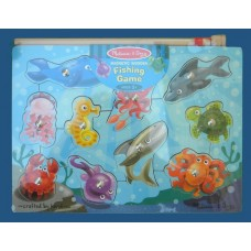 Magnetic Wooden Fishing Game Puzzles