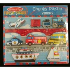 Fresh Start Chunky Puzzle /Vehicles