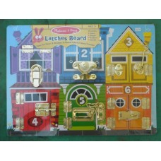 Latches Wooden Board Learning Game