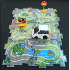 Puzzle Vehicle Set /White Car