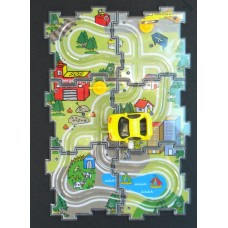 Puzzle Vehicle Set /Yellow Car