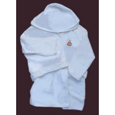 Hooded Terry Robes /Sailboat