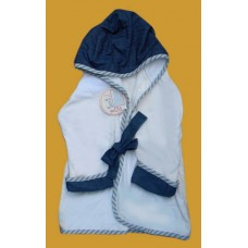 Hooded Terry Robes /Denim