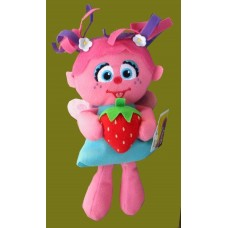Sesame Street Plush Characters /Foodies /Abby Cadabby Holding Strawberry