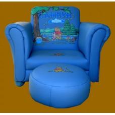 "Chair W/Ottoman /Pink or Blue  ""Winnie-the-Pooh"" Design"