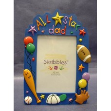 """All Star Dad"" Picture Frames"