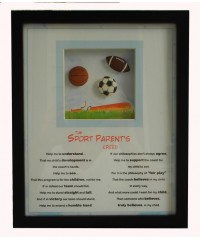 """Sports Plaque /""""The Sports Parents Creed"""""""