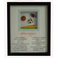 "Sports Plaque /""The Sports Parents Creed"""