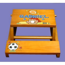 "Reg. or Large Step Stools /NATURAL or WHITE / ""Multi Sports"""