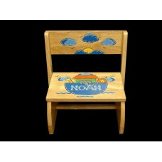 "Reg. or Large Step Stools /NATURAL or WHITE / ""Noah's Ark"""