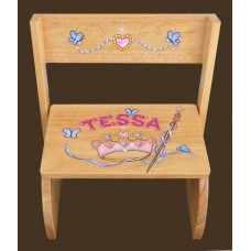 "Step Stools /NATURAL or WHITE / ""Princess"""