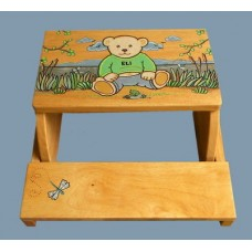 "Step Stools /NATURAL or WHITE / ""Teddy Bear"""