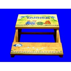 Step Stools /NATURAL or WHITE  /Train 2