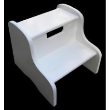 2-Step Stools / No Storage / White