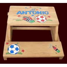 "Step Stools /NATURAL or WHITE / ""Soccer"""