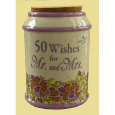 "Storage Jars /""50 Wishes for Mr. & Mrs."
