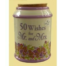 "Storage Jars /""50 Wishes for Mr. & Mrs."