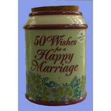 """Storage Jars /""""50 Wishes for a Happy Marriage"""