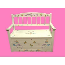 "Toy Boxes /Bench-Type: ""Flowers, Bows, Birds, etc."""