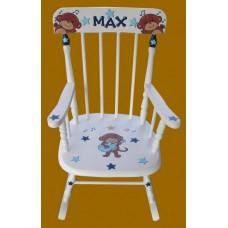 Rocking Chairs /Medium White Rocker /ROCK-STAR MONKEY