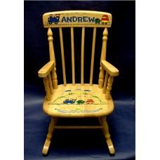 Rocking Chairs /Medium Natural Rocker /TRAINS