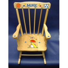 Rocking Chairs /Medium Natural Rocker /SPORTS