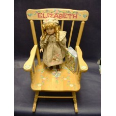 Rocking Chairs /Small Natural Rocker /FLOWERS