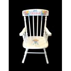 Rocking Chairs /Medium White Rocker /BOUQUETS