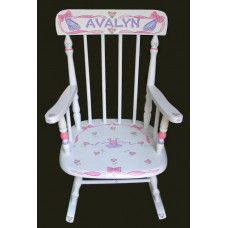 Rocking Chairs /Medium White Rocker /BALLET & RIBBONS