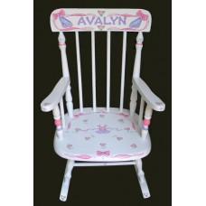 Rocking Chairs /Medium White Rocker /BALLET & RIBBONS