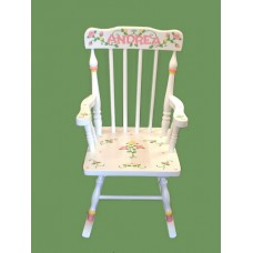 Rocking Chairs /Small  White Rocker /ROSES