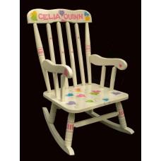 Rocking Chairs /Medium White Rocker /HEART BALLOONS 2
