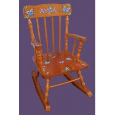 Rocking Chairs /Small Honey Rocker /BUTTERFLIES