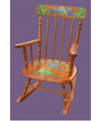 Rocking Chairs /Medium Natural Rocker /DINOSAURS