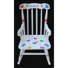 Rocking Chairs /Medium White Rocker /HEART BALLOONS 1