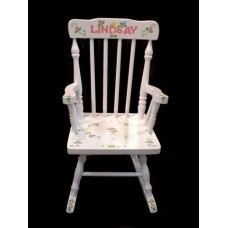 Rocking Chairs /Small White Rocker /ROSEBUDS