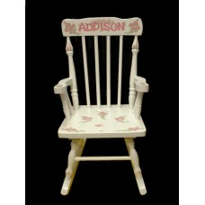 Rocking Chairs /Medium Natural Rocker /FRENCH ROSES