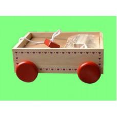 Wagons W/Blocks /Wooden